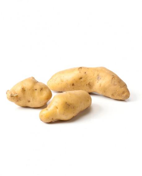 Patata Ratte - gialle e forma allungata - bauletto 3Kg - Perle della Tuscia