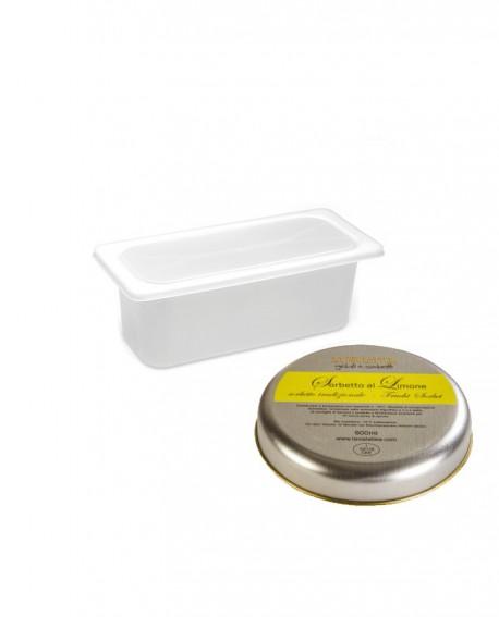 Sorbetto Limone Vaschetta 2lt - artigianale - La Via Lattea