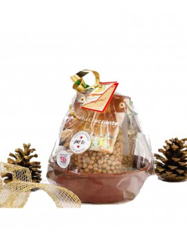Tegame Terracotta - confezione regalo di legumi - 800g - Perle della Tuscia