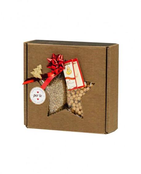 Bauletto Stella - confezione regalo di legumi - 800g - Perle della Tuscia