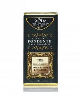 Tavoletta Monorigine Forastero Ecuador 70% Cacao minimo 100g - Cioccolateria Napoleone Pietro