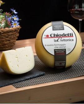 Caciotta La Civitonica - formaggio con latte misto dolce - 2Kg - stagionatura 20 giorni - Formaggi Chiodetti