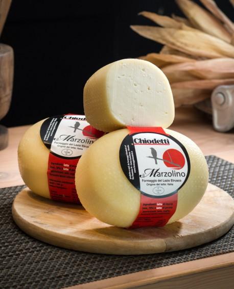 Marzolino Falerino - formaggio con latte misto dolce - 2Kg - stagionatura 14 giorni - Formaggi Chiodetti
