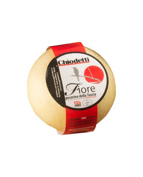 Pecorino Fiore della Tuscia - formaggio di pecora - metà 2Kg - stagionatura 20 giorni - Formaggi Chiodetti