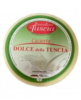 Caciotta Dolce della Tuscia - formaggio con latte misto dolce - 1,6Kg - stagionatura 20 giorni - Dimensione Tuscia