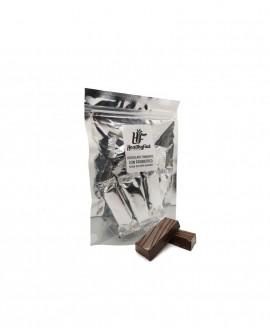 Snack di cioccolato fondente con probiotico senza zuccheri aggiunti, n.10 cioccolatini - Confezione 100g - Healthy Food Italia
