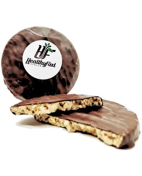Snack al farro soffiato bio e cioccolato fondente, senza zuccheri aggiunti - 30g - Healthy Food Italia