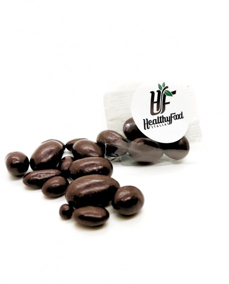 Dragées di frutta secca e cioccolato fondente, senza zuccheri aggiunti - 50g - Healthy Food Italia
