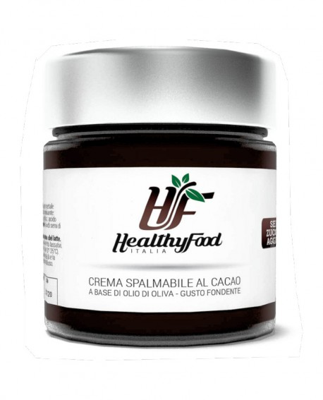 Crema spalmabile extra dark fondente, senza zuccheri aggiunti - 230g - Healthy Food Italia