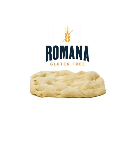 Base PINSA ROMANA SENZA GLUTINE Artigianale precotta e surgelata - dimensioni 19x30 - 250g - Romana Gluten Free