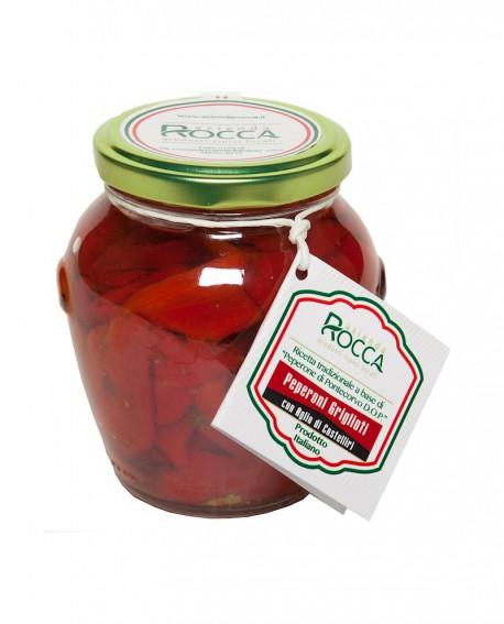 Peperoni Grigliati di Pontecorvo DOP - Vaso Orcio 288 g - Azienda Rocca