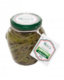 Fagiolini alla Ciociara con aglio di Castelliri - Vaso Cilindrico 265 g - Azienda Rocca