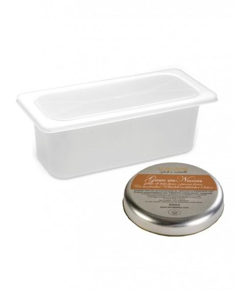 Gelato Nocciola Viterbo Mantecato vaschetta 5lt / 3 kg La Via Lattea
