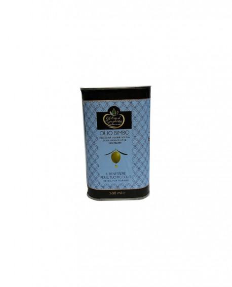 Olio BIMBO Extravergine di Oliva 100% italiano - Lattina da 500 ml - Gli Orti di Guglietta