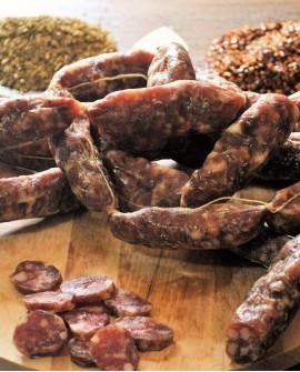 Salsicce Bassianesi stagionate - Busta da 1,2 Kg - Reggiani