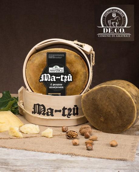 Pecorino amatriciano stagionato Ma-Trù 1,9-2,1 kg SV De.Co. - Caseificio Storico Amatrice