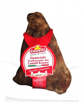 Guanciale Stagionato Tradizionale dei Castelli Romani - Pepe - 1,0-1,3 kg - Castelli Salumi