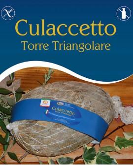 Culaccetto Torre Triangolare 6,5 kg stagionatura 18 mesi - Salumi Grufà