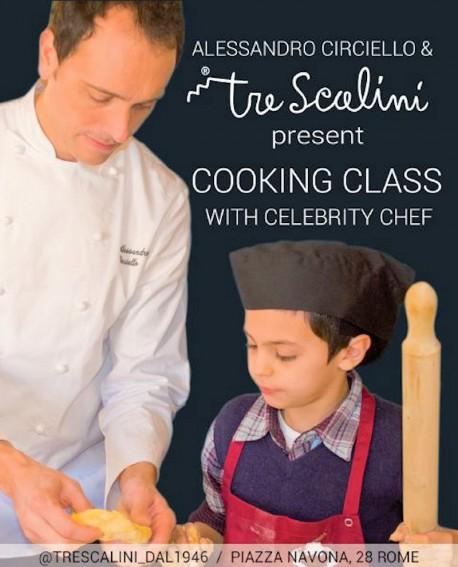Celebrity Chef Alessandro Circiello e Tre Scalini presentano Cooking Class a Piazza Navona nel cuore di Roma