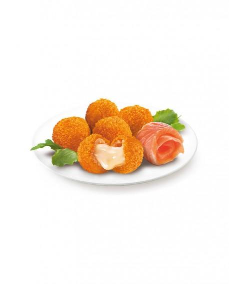 Bon Bon al salmone panati 20g surgelato - cartone 6 kg - Frittoking