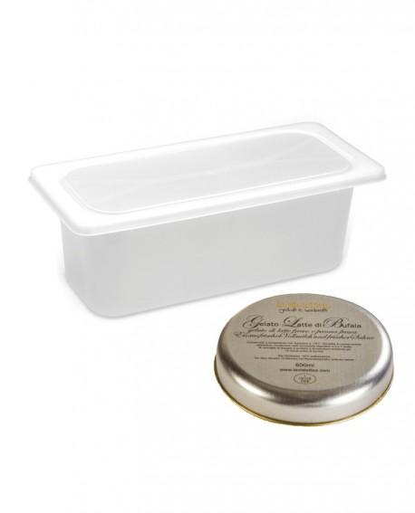 Gelato Latte di Bufala Mantecato premium vaschetta 5lt / 3,3 kg - artigianale - La Via Lattea