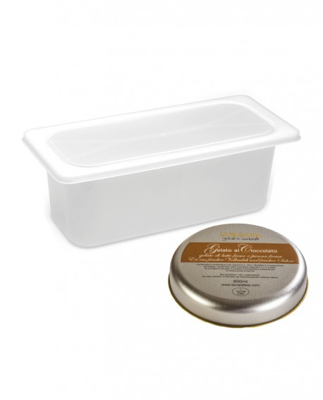 Gelato Cioccolato Ricco Mantecato premium vaschetta 5lt / 3,3 kg - artigianale - La Via Lattea
