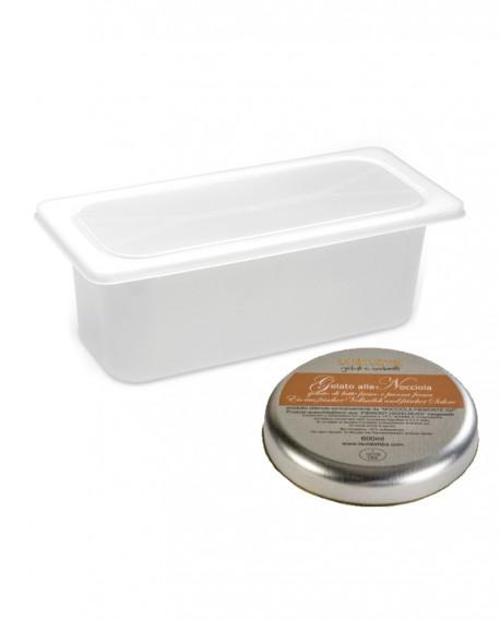 Gelato Nocciola Piemonte DOP Mantecato premium vaschetta 5lt / 3,3 kg - artigianale - La Via Lattea