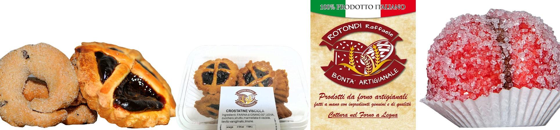 Crostatine, Ciambelline, Pesche, prodotti da forno artigianali vendita online - Bontà Artigianale