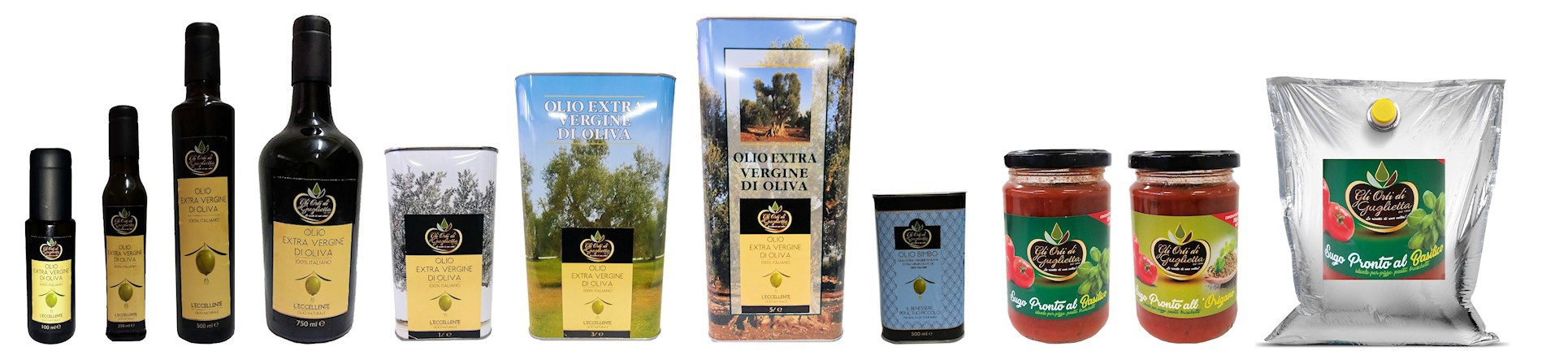 Sughi, patè, salse, condimenti, olio extravergine itrana GLI ORTI DI GUGLIETTA - vendita online